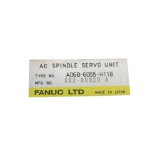 FANUC AC SPINDLE SERVO UNIT TYPE A06B-6055-H118